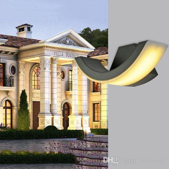 Waterproof Outside Wall Lamp 8W LED Exterior Wall Mount Lighting Modern  Minimalist Indoor Outdoor Engineering Porch Garden Light Wall Sconce Wall  Lamps ...