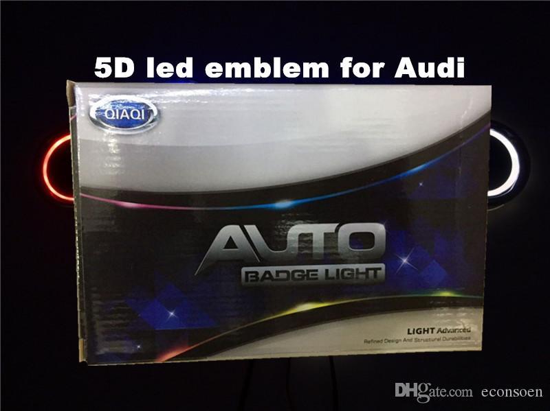 carro 5D emblema liderado carro levou carro crachá símbolos levaram logotipo traseiro luz azul vermelho para Au * d tamanho 180x58mm