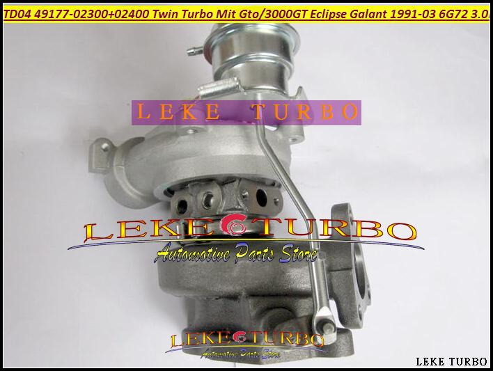TD04 49177-02300 49177-02400 49177-02310 49177-02410 Twin Turbo Turbocharger For MITSUBISHI GTO 3000GT Eclipse Galant 1991-03 6G72 3.0L 235HP (4)