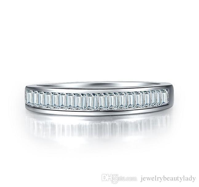 ForeverBeauty 1CT Princess Cut бриллиантовое кольцо наборов для пар с 925 Посеребренных белым золотом женщин обручальных кольцами Женских колец