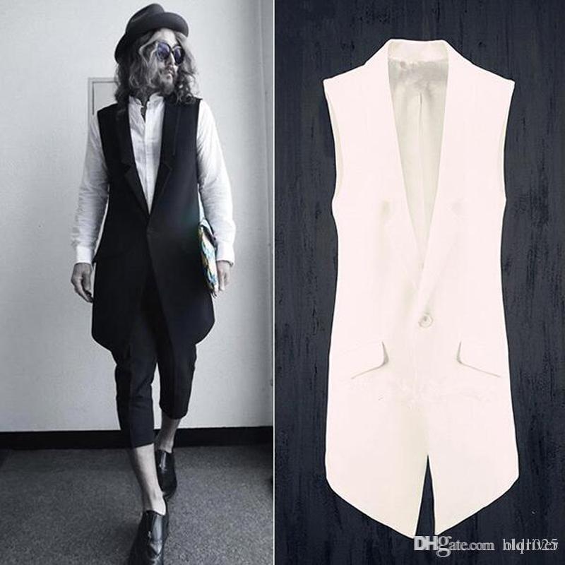 2e96c4d25ae 2019 Fashion Men Suits Dress Vest Men Slim Sleeveless Coat Men ...
