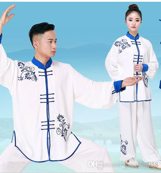 JIAJIA CottonTai Chi clothing bamboo leaf embroidery martial arts performance competition clothing tai chi clothing embroidery men and women
