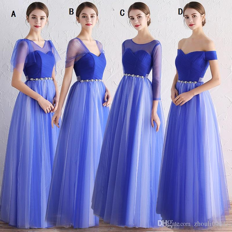 Country Style Bohemian Bridesmaid Dresses Top Ombre Short Sleeves ...