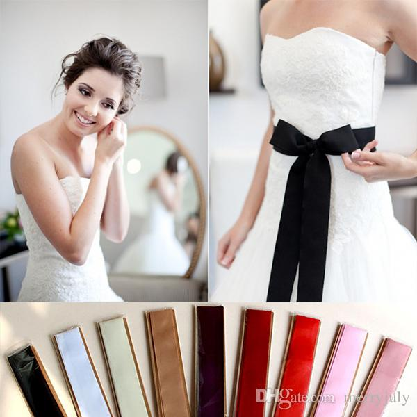 2017 270cm Long Simple Ribbon Sash For Formal Wedding Dress Belts