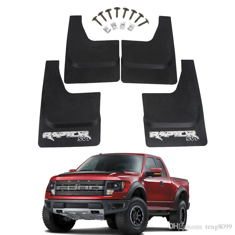 For Ford F Black Mud Flaps Mudguards Molded Front Rear Splash Guard Svt Raptor   Car Accessories Part Of Cars Part Of The Car From Teng