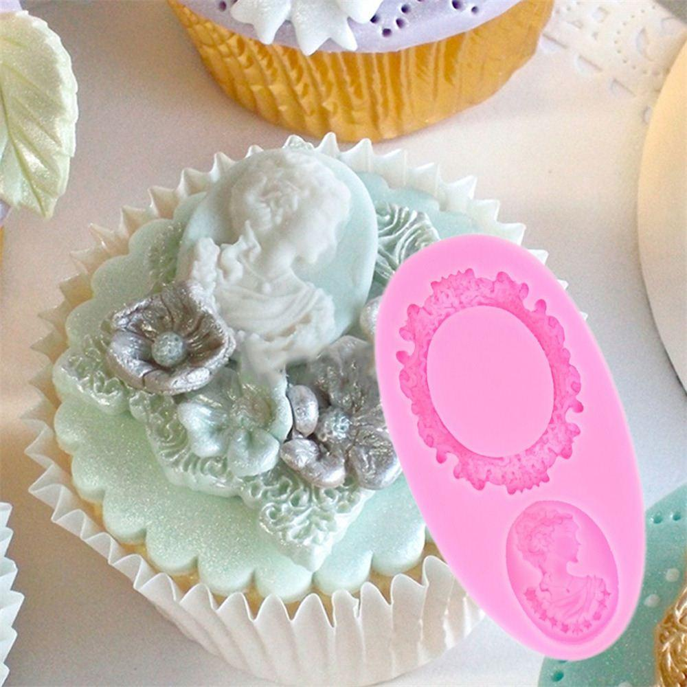 Grosshandel Spiegel Fondant Kuchen Dekorieren Tools Rahmen Cupcake