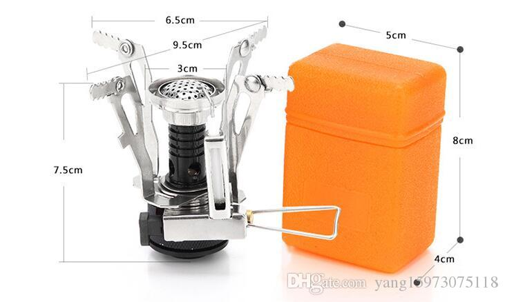 AOTU One-piece Gas Stove Ultralight Camping Folding Stove Head Lighter Aluminum Alloy Base For Outdoor Camping Hiking 148