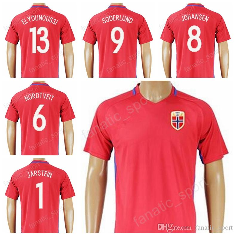 new style 3e210 6d0e2 Thai 13 Tarik Elyounoussi Soccer Norway Jersey 2017 2018 Custom National  Team 8 JOHANSEN 6 Riise 1 JARSTEIN 9 SODERLUND Football Shirt Kits