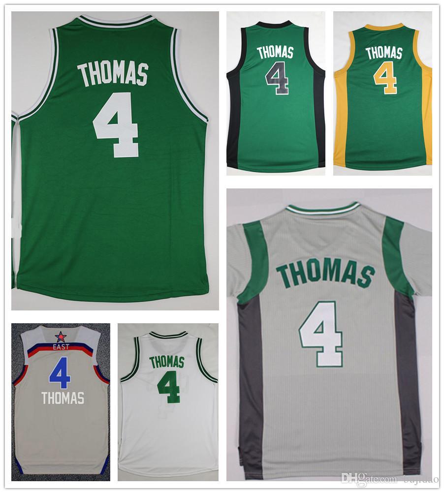 9498159b3892 ... 2017 Newest Mens 4 Isaiah Thomas Jersey Cheap Sports Shirt Team Green  White Grey Isaiah Thomas ...