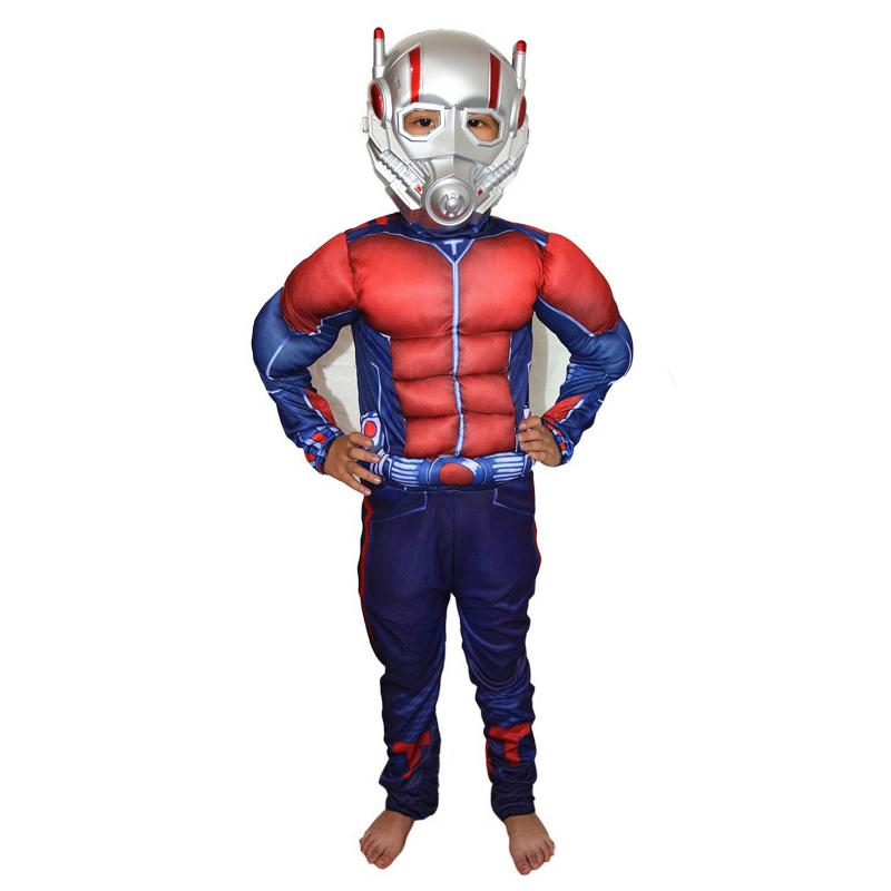 halloween party cosplay clothes Birthday Boys children's Iron Man muscle Costume Ironman superhero movie costumes Christmas Gift