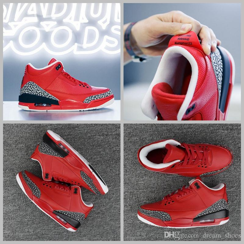 bfeb019aceecf9 2017 Air Retro 3 X DJ Khaled Grateful PE Men Basketball Shoes Fire Red High  Quality Retro 3s Mens Sneakers US8 13 Shoes Sneakers Jordans Shoes From ...