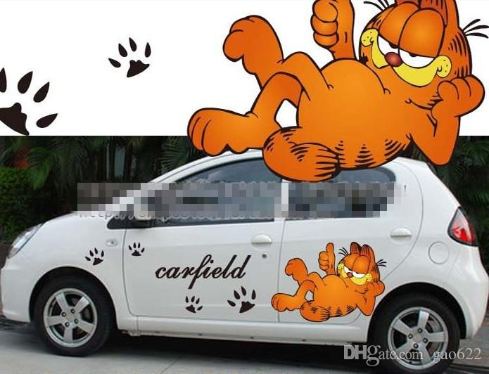 New Hot Anime Car Stickers Anime Stickers Garfield From - Car anime stickers