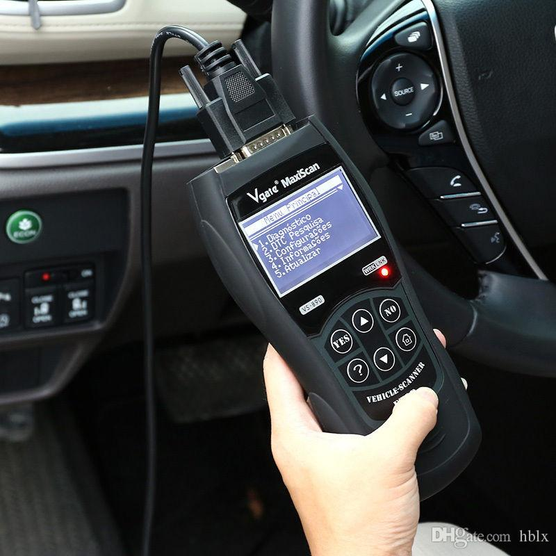 New Display LCD vGATE VS890 OBD2 Código OBDII leitor Auto Scanner carro diagnóstico ferramenta CEC_A0D Multi-language