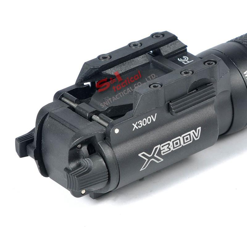 NEW SF X300V-IR Flashlight Tactical gun Light LED White and IR Output Fit 20mm Picatinny Rail Black
