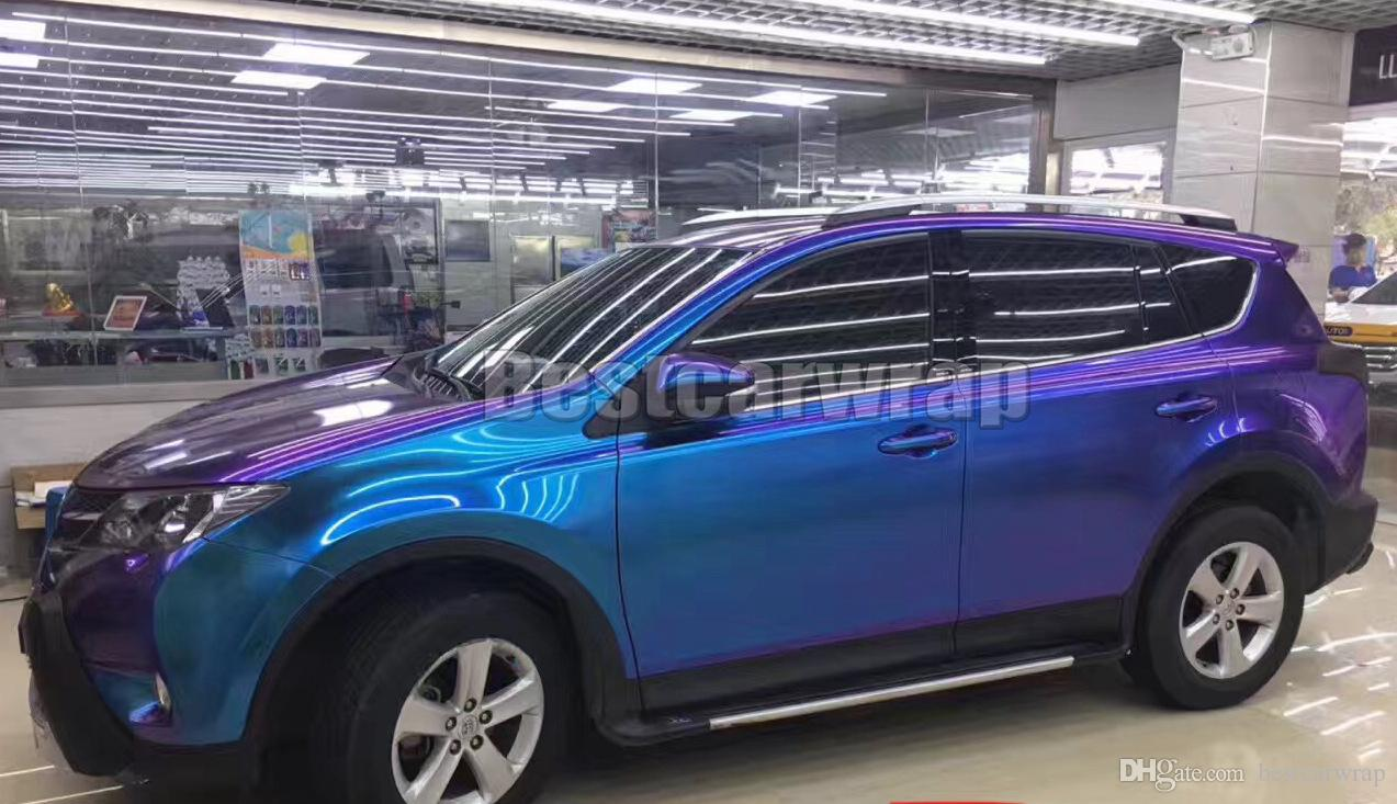 2019 Purple   Blue Pearl Gloss Chameleon Vinyl Wrap Film With Air Bubble  Free Shiny Flip Flop Glitter Pearl Car Wrap Sticker 1.52 20M Roll 5x67ft  From ... 1759d93764e4