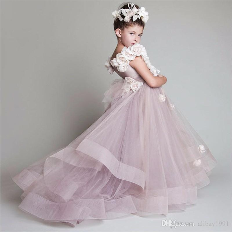 Gorgeous Pink Glitz First Communion Dresses Mother Daughter Gowns Flower Girl Dresses For Wedding Kids Pageant Dress Custom Made