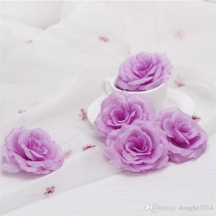 Wholesale Cream Ivory Artificial Silk Camellia Rose Peony Flower Head 7-8cm Party Decoration Artificial Flower Head Wedding Decoration