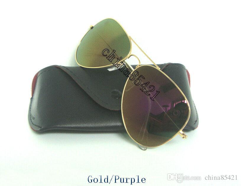 Piloto Colorido Cristal Piezas Caja Oro Mujer De Lentes Sol Diseñador Marco Compre 1 Con Para Espejo Flash Rosa Gafas fI7mbyY6vg