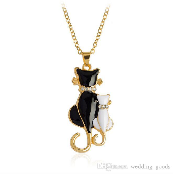 Jewelry fashion personality animal necklace diamond love cute couple necklace WFN409 with chain a