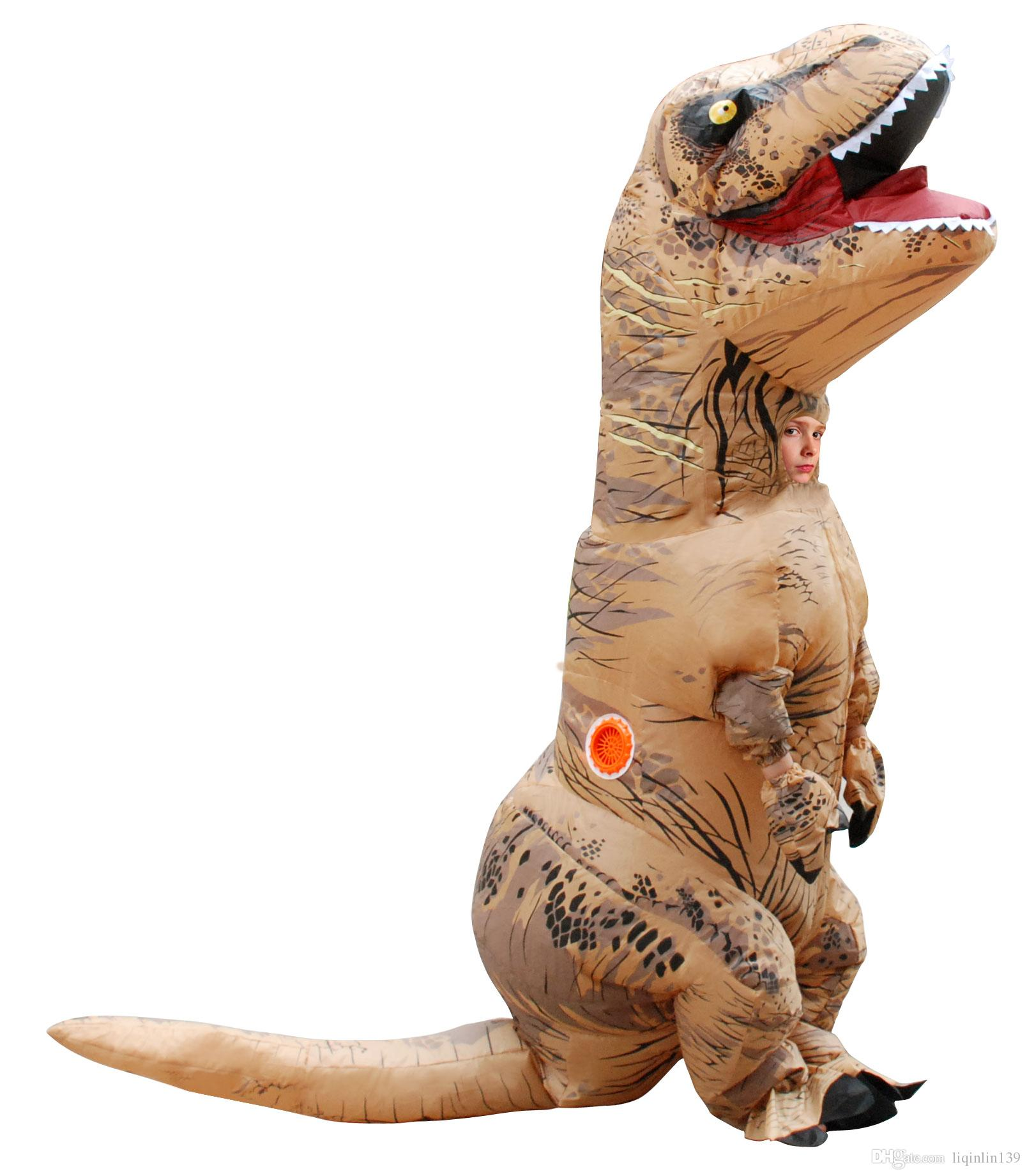 girl cosplay inflatable dinosaur costume fan operated adult kids size halloween animal costumes dino rider t rex large group halloween costumes disco