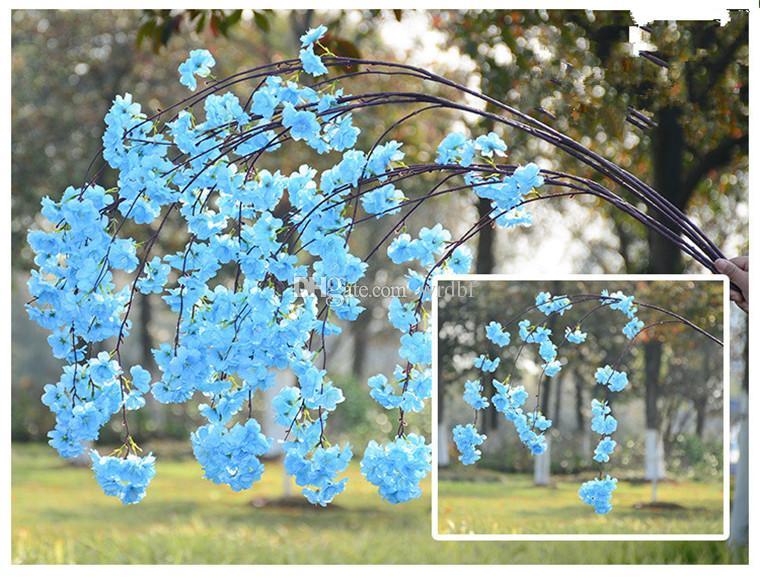 Вишневый цветок бегония Cherry Bunch Fake Pleiopetalous сакуры 140 см для свадьбы дома искусственные декоративные цветы