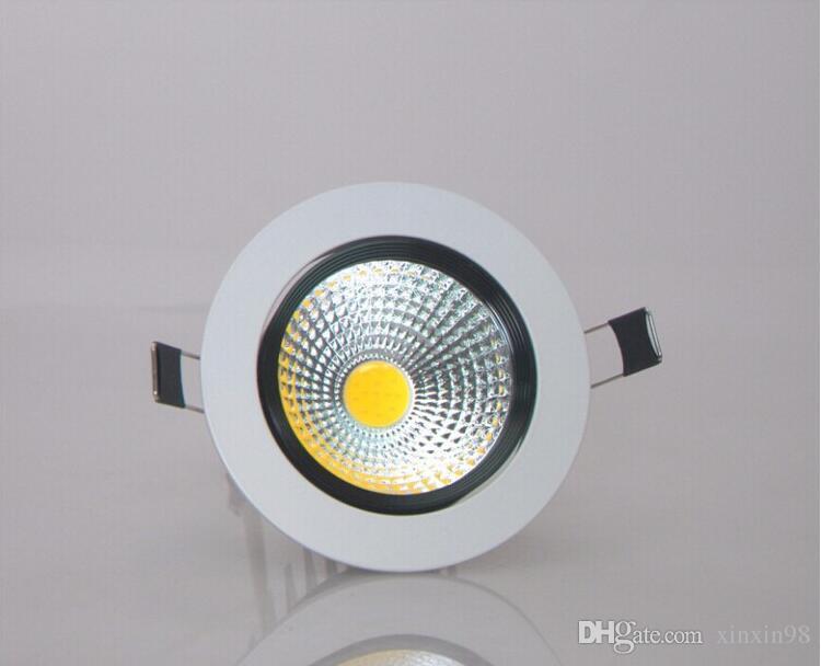 Оптовая цена 9W / 12W Dimmable COB LED Down зажигалки AC90-260V COB утопленный вниз свет лампы горячая продажа Бесплатная доставка