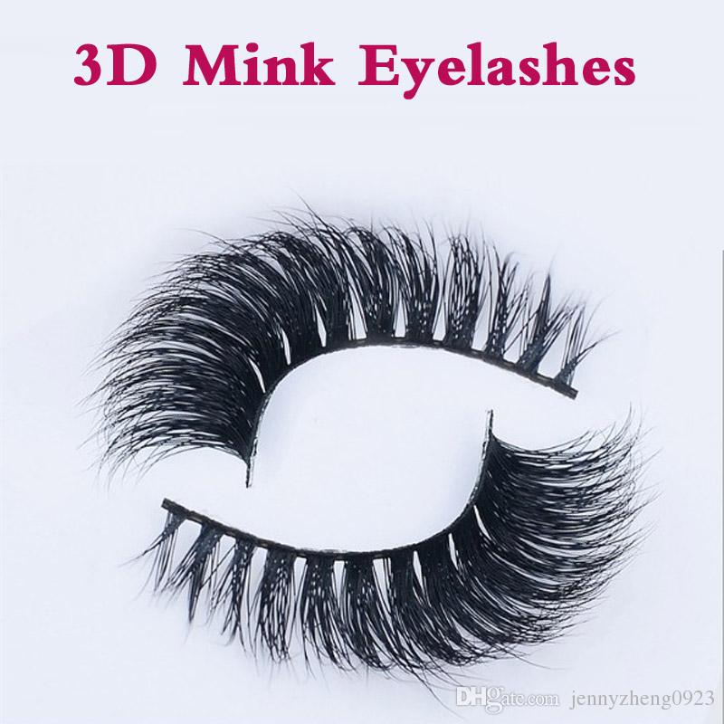 3D False EyeLash Thick Black 100% Mink False Eyelashes Makeup Tips Natural Smoky Makeup Long Fake Eye Lashes