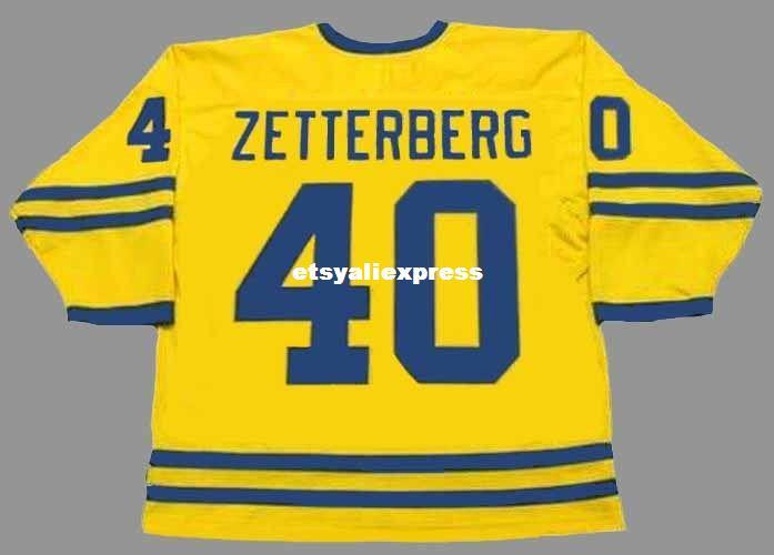 2019 Custom Mens HENRIK ZETTERBERG 2002 Team Sweden Cheap Olympic Retro  Hockey Jersey From Etsyaliexpress 7b11525f8