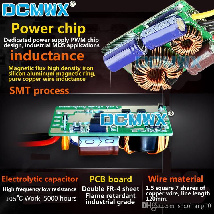 Conversores de tensão DCMWX® buck 60V48V36V24V12V Queda para 5 V step down inversores de potência do carro de Entrada DC8V-75V Saída 5V3A5A8A10A12A15A à prova d 'água