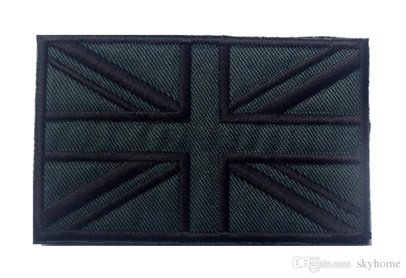 Embroidered United Kingdom Flag Patches Army Patch 3D UK Tactical Patches Fabric Cloth The United Kingdom Flag Badge