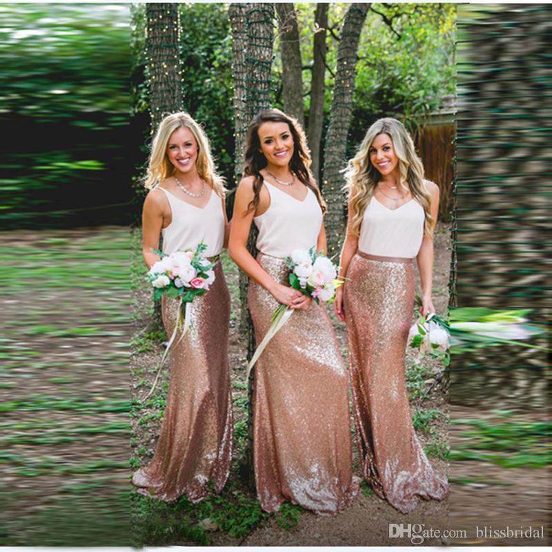 285204f77fe7c Bridesmaid High Fashion Shiny Sequin Skirts Custom Made Sheath Column Long  Skirt Women Maxi Formal Evening Dress
