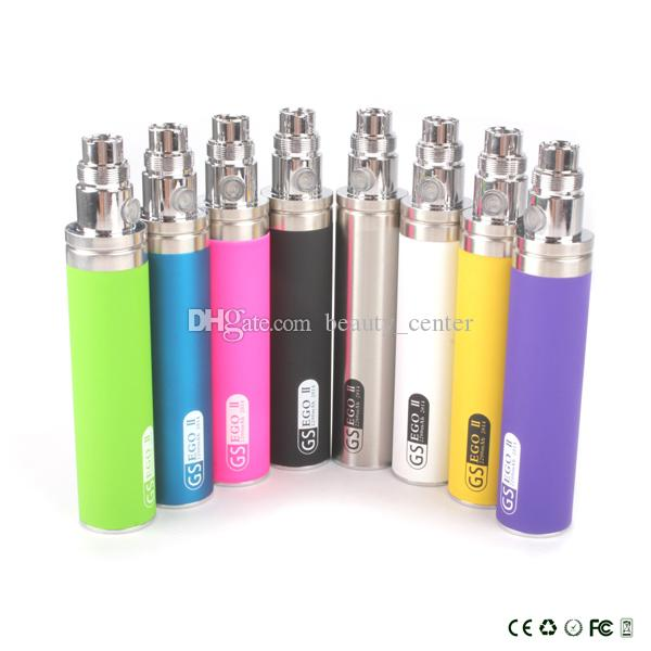 DHL Elektronische Zigarette eGo Batterie GS eGo II 2200 mAh KGO EINE WOCHE 2200 mAh Große Kapazität Batterie fit T2 CE4 Zerstäuber e cigs