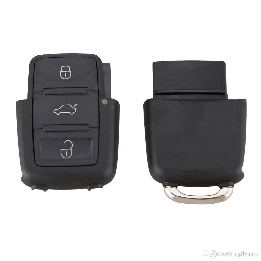 Car Entry Key Black 3 Buttons Smart Remote Replacement Key Case No Chip for Volkswagen B5 Passat CIA_40I
