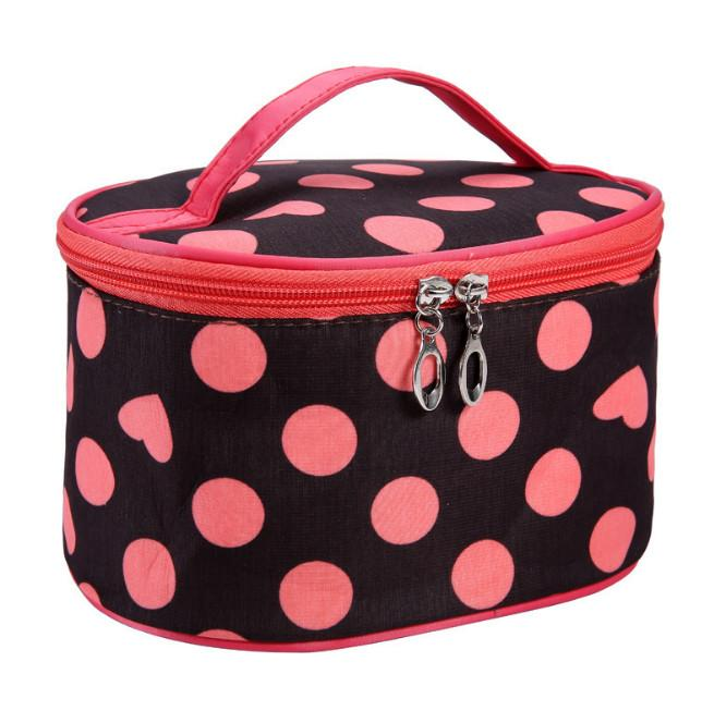 Makeup Bag for Travel Cosmetic Case Handbag Women Little Girl for Outside Big Volume Circle dot Type Makeup Box Zipper bag213