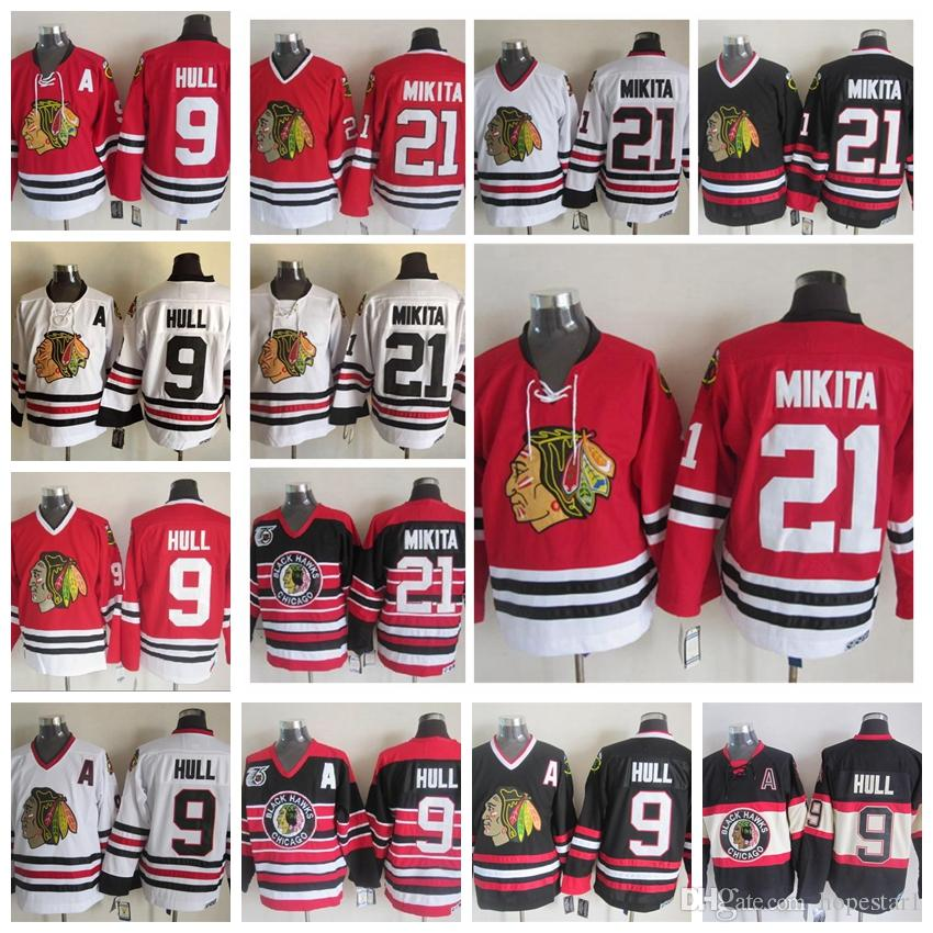 556d56ba8 ... stitched nhl jersey 33793 87b1b  discount blackhawks 9 bobby hull white  ccm vintage throwback jersey see larger image bb5ee 31648