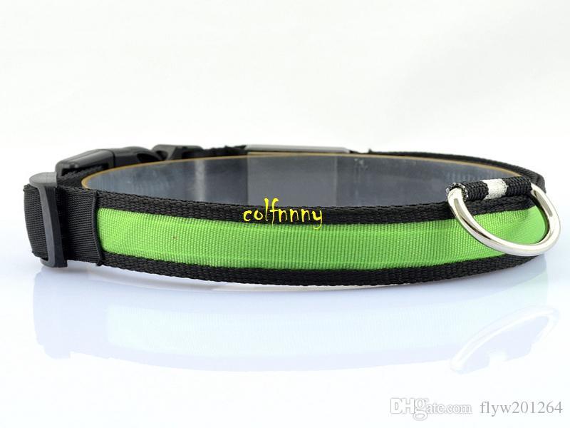 / trasporto veloce infiammante in collare nero scuro di sicurezza LED Collare di modo LED di illuminazione di modo di 3 punti LED Pet Collar