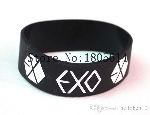 Heat! The new EXO combination sports wristbands 100% silicon Gym Fitness bracelet can wholesale