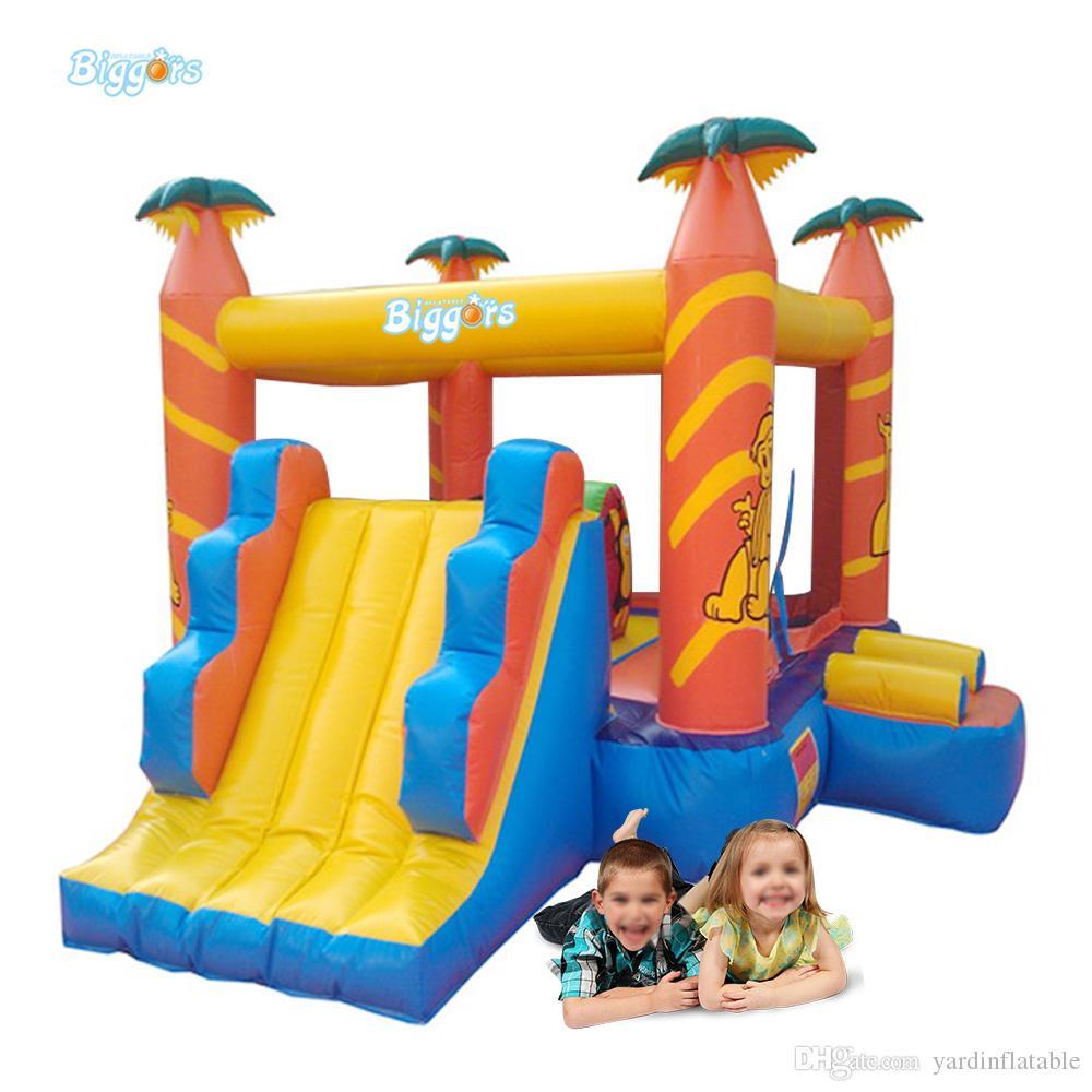 Mini Bounce Trampoline inflável para crianças que saltam o castelo insuflável do ar do castelo com ventiladores de ar
