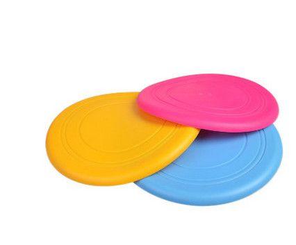 Maison Jardin Fournitures pour animaux de compagnie spécial frisbee sur le silicone souple frisbee chien jouet chien compétition soucoupe volante pet training résistance à bit
