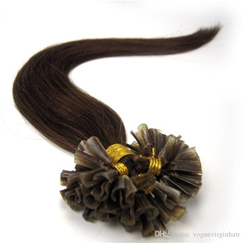 Toptan Fiyat için Çekilmiş önceden gümrük Keratin sopa saç U ucu saç uzantıları Avrupa İnsan Saç