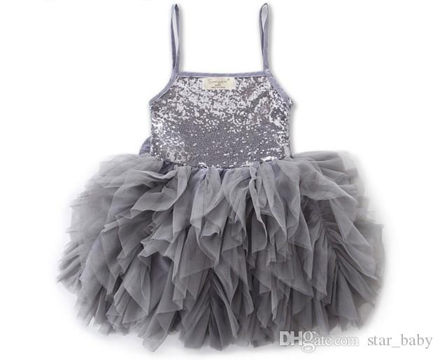 Kids Girls Sequin Bowknot Suspender Dress Summer High Quality Ruffles Lace Wedding Party Dress Puff Dress Star Baby 2017New 0-10 Years Q0916