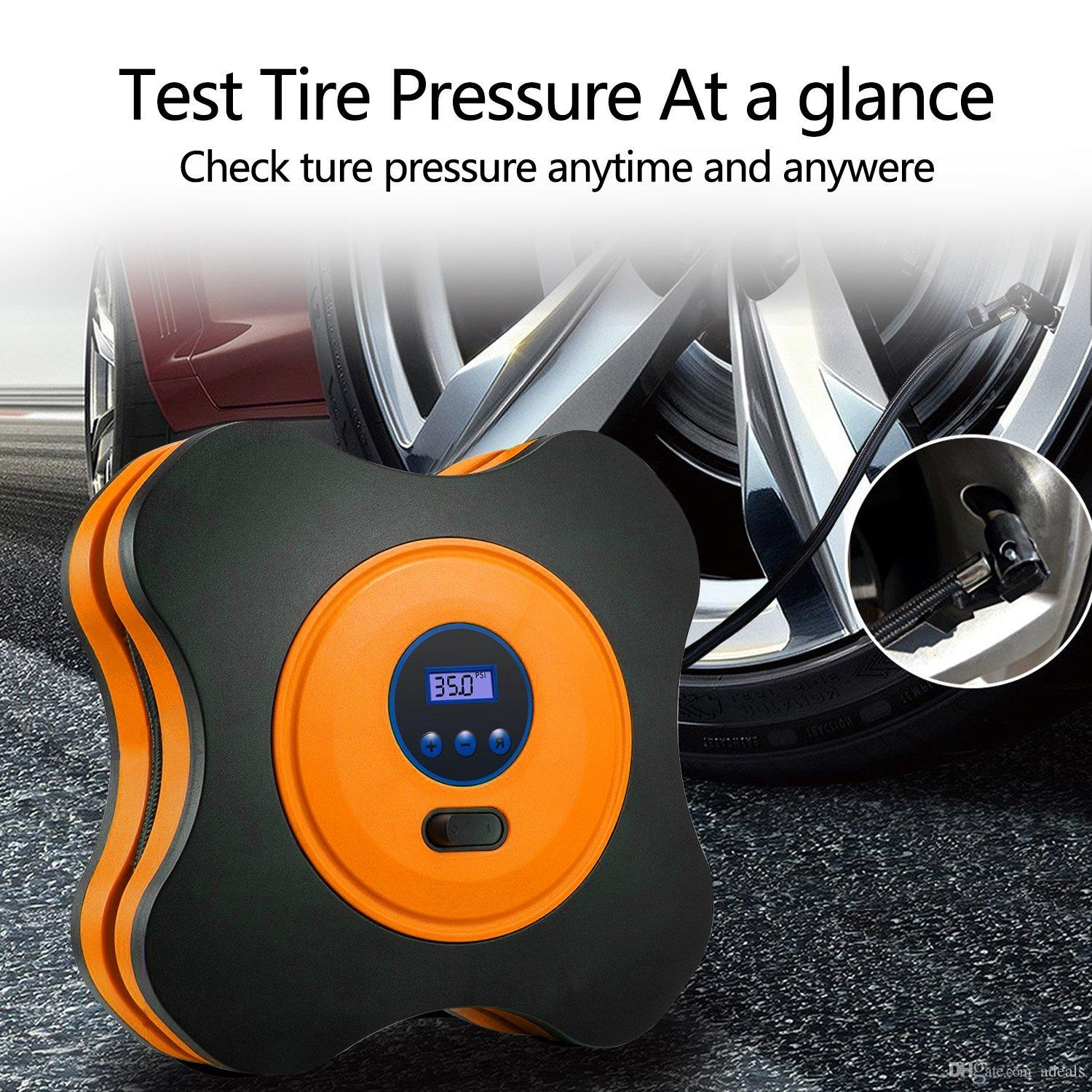 Automobiles & Motorcycles Bright Portable Mini Car Inflatable Pump Air Compressor Tire Auto Tire Pump Electric Inflating Machine 260psi Dc12v With Nozzle Adapter