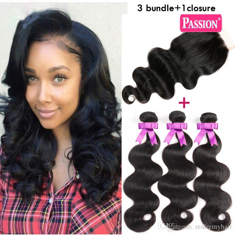 Brazilian Body Wave With Closure 3 Bundles Unprocessed Virgin Brazilian Hair With Closure Tissage Bresilienne Avec Closure Wth Bundles
