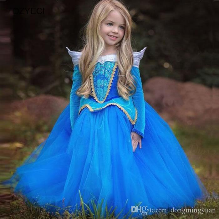 Grosshandel Aurora Karneval Kostume Fur Madchen Kleider Ostern