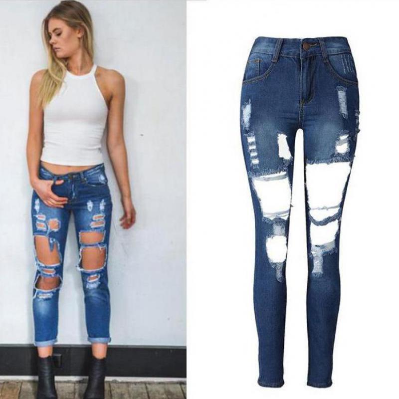 3ed8ef403 Wholesale 2016 New Arrival Ankle Length Pants Zipper Fly Mid Stripe Skinny  Pencil Pants Jeans Ukraine Vaqueros Mujer Denim Jeans Womens UK 2019 From  Baica