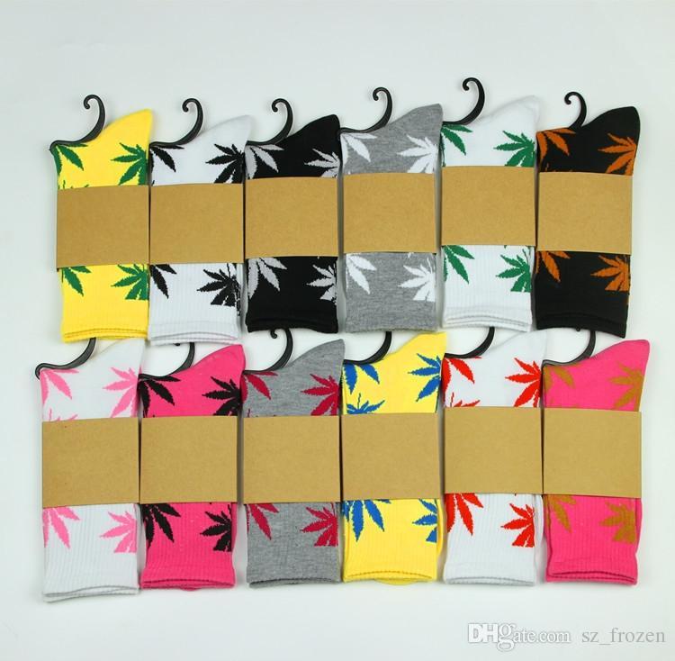 calcetines de la vida vegetal de navidad para hombres, mujeres, calcetines de algodón de alta calidad, monopatín hiphop hoja de arce, calcetines deportivos al por mayor, libre de DHL Fedex