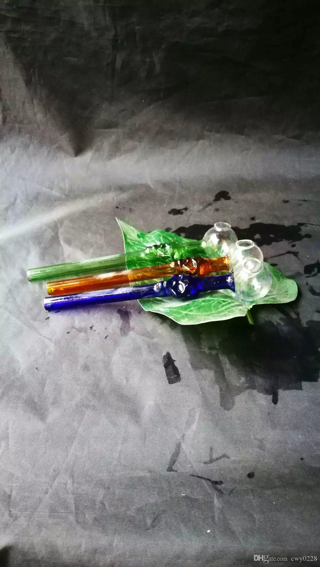 Accessori bong con bruciatore a testa trasparente, Bruciatore a olio unico Tubi in vetro Bong Tubi d'acqua Rigs tubi in vetro Fumo con contagocce