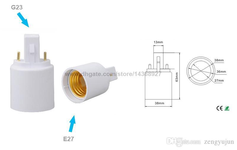G23 zu E27 Lampenfassung Konverter für LED Halogen CFL Glühbirne Lampe Adapter G23 zu E27