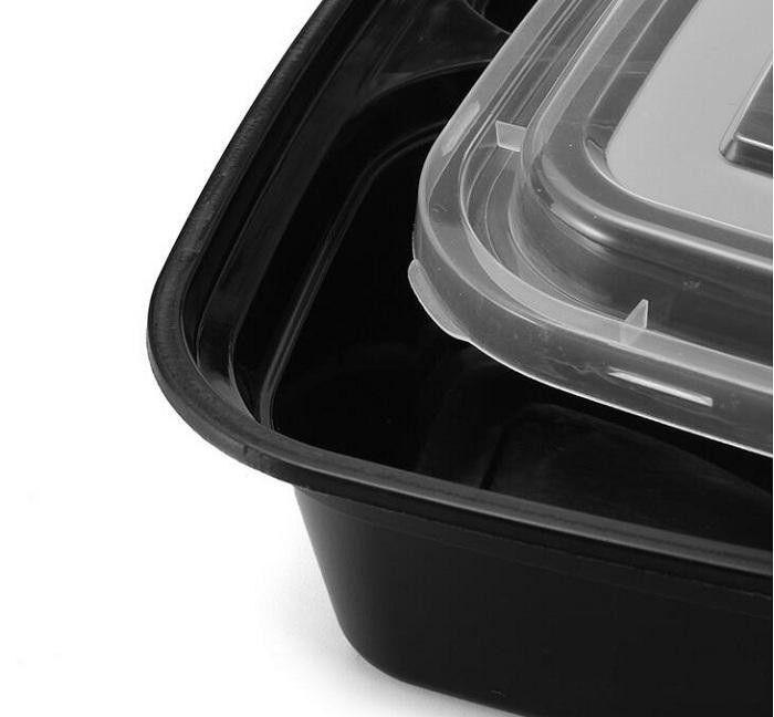 Одноразовые микроволновая печь для хранения продуктов питания сейф еда Prep контейнеры коробка обеда дети пищевой контейнер посуда Бенто ужин DHL