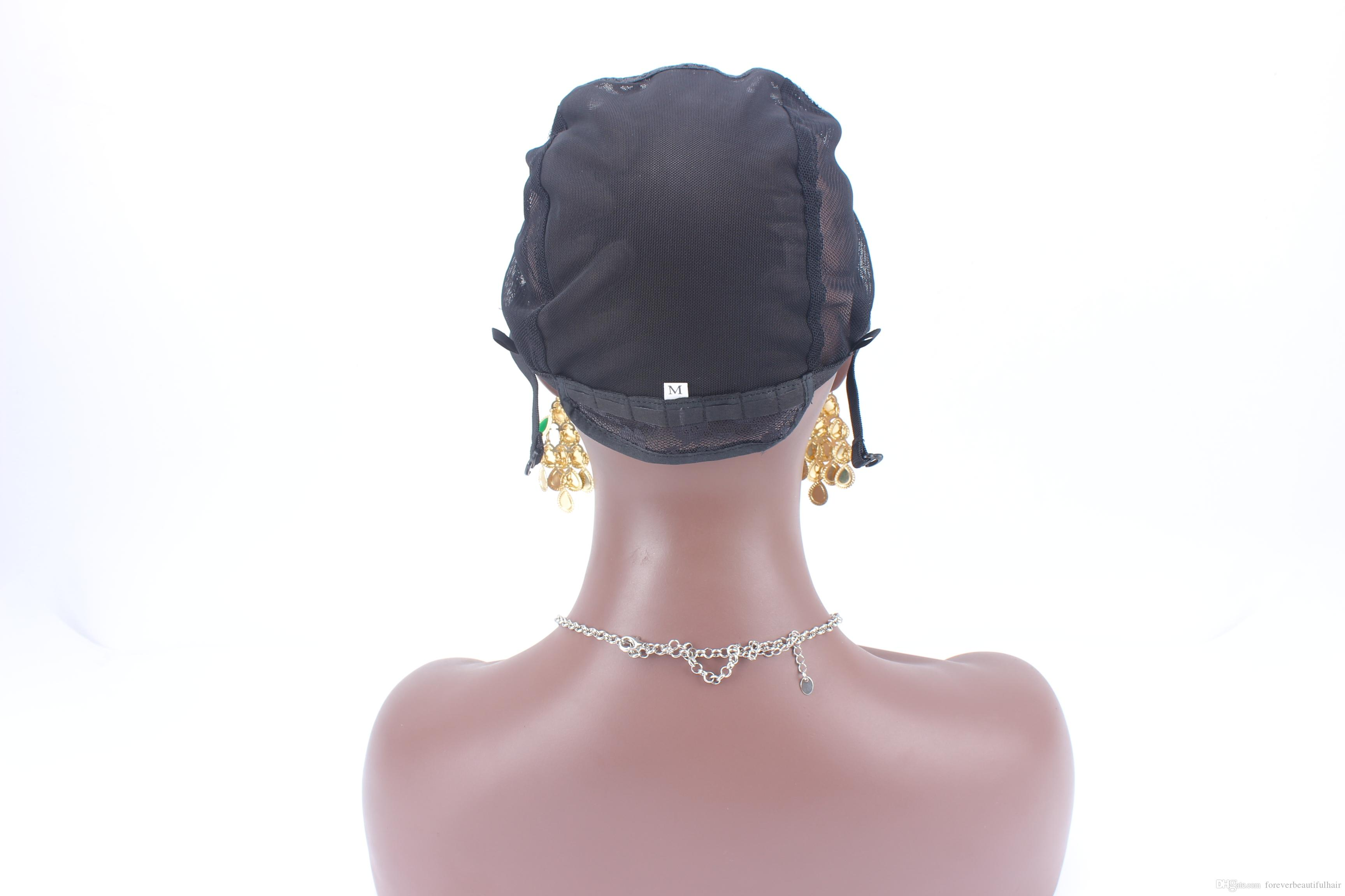 5 ADET U bölüm peruk kap S / M / L siyah renk ayarlanabilir peruk kapakları için dokuma sol / sağ / orta kısmı dokuma kap hızlı kargo
